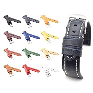 BOB Unisex Uhrenarmband Alligator Style Modell Firenze 22 mm