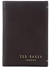 011396704812 Ted Baker Zacks Leather Small Bi-Fold Card Wallet Chocolate Brown