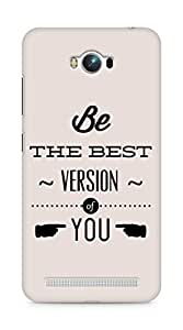 Amez Be the Best version of Yourself Back Cover For Asus Zenfone Max ZC550KL