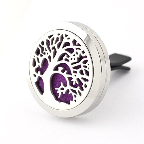 JOYMIAO-Deodorante-per-auto-aromaterapia-diffusore-clip-in-acciaio-INOX-albero-della-vita-naturale-d-aria-aromaterapia-con-8-feltrini-albero-della-vita
