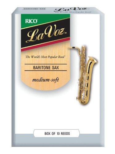 La Voz Blätter für Baritonsaxophon Stärke Medium-Soft (10 Stück)