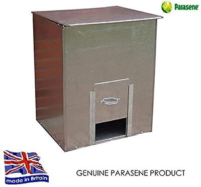 Parasene Galvanised Steel Metal Coal Bunker Heavy Duty Coal Fuel Storage Solution No.3