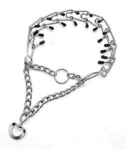 MovilCom® Collier de Dressage pour Chien en métal avec maillons pour réduire Les tirs