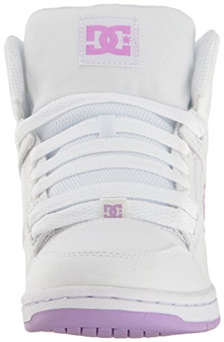 DC Shoes Rebound High TX Shoes – Heritage White/Lilac