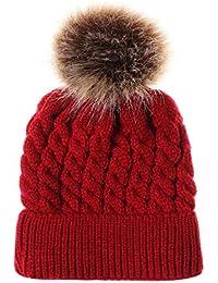d1d7e460512 Moonuy Winter Warm Pom-Pom Ball Beanie Hat Cute Newborn Toddler Kids Baby  Winter Warm Cap Winter Warm Hat Cap Cotton Knitted…