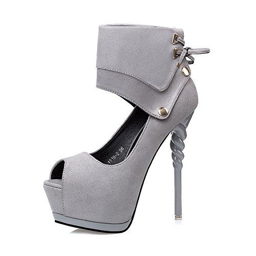 FLYRCX Unione sexy bendaggio impermeabile fine con bocca poco profonda scarpe con i tacchi alti ladies personalità del mondo della moda di scarpe di partito A