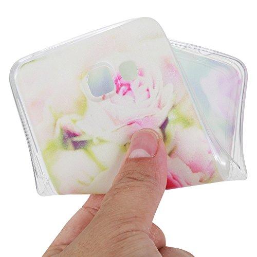 Cuitan Transparent TPU Weiche Hülle Schutzhülle für Apple iPhone 7 (4,7 Zoll), Modisch Muster Design Durchsichtig Rück Abdeckung Back Cover Case Handytasche Rückseite Tasche Handyhülle für iPhone 7 (4 Rose
