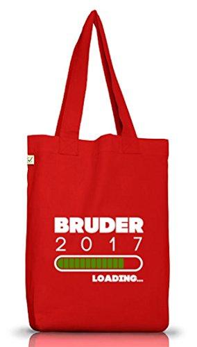 Geschenkidee Jutebeutel Stoffbeutel Earth Positive mit Bruder 2017 Loading... Motiv von ShirtStreet Red
