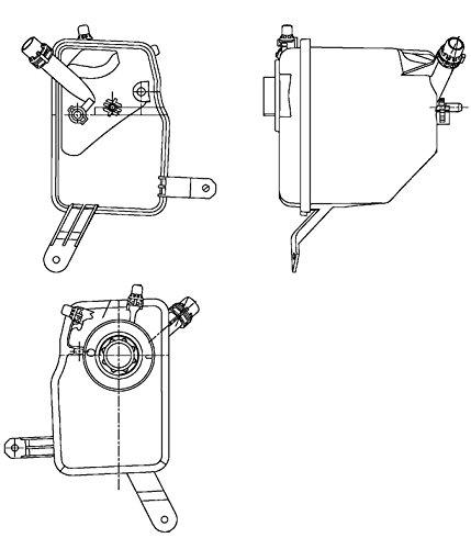 Madlife Garage 8D0121403L K/ühlmittel Ausgleichsbeh/älter mit Deckel K/ühlwasser K/ühlmittelbeh/älter A4 A6 Passat 3B2 3B3