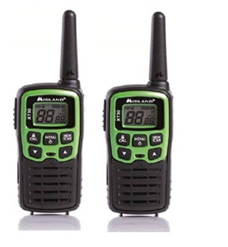 Midland XT30 16channels 446.00625 – 446.09375MHz Negro, Verde two-way radios - Walkie-Talkie (AAA, 48 x 32 x 90 mm, 75 g)