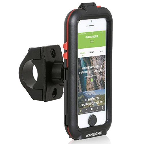 Verwendet 5 Iphone (Wicked Chili Tour Case für Apple iPhone SE / 5S / 5 - Outdoor Fahrradhalterung Bike Navigation (Spritzwasserschutz IPx4, Ladekabelanschluss, Kopfhörerbuchse, neig- und drehbar))