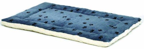 Artikelbild: MidWest Homes for Pets MidWest Quiet Time-Wendebett für Hunde, Pfotenmuster/Fleece (43,18x27,94cm), Blau