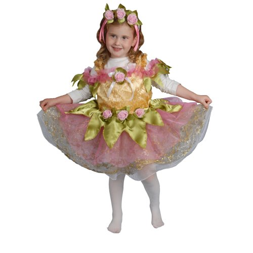 Dress Up America Kleines Mädchen Ballerina Kinderkostüm Set (Dress Up Ballerina Kostüm)