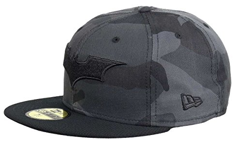 Cappellino 59fifty camo batman fitted new era baseball cap berretto baseball 7 3/8 (58,7 cm) - nero