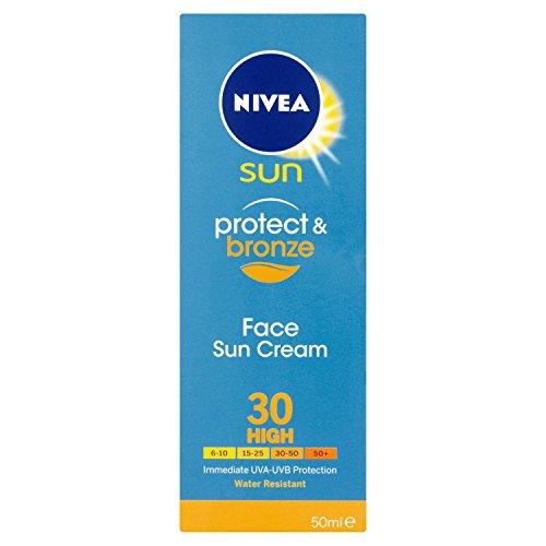 Nivea Sun Proteggere e Bronzo Viso Crema Solare Alta SPF 30 - 50 ml