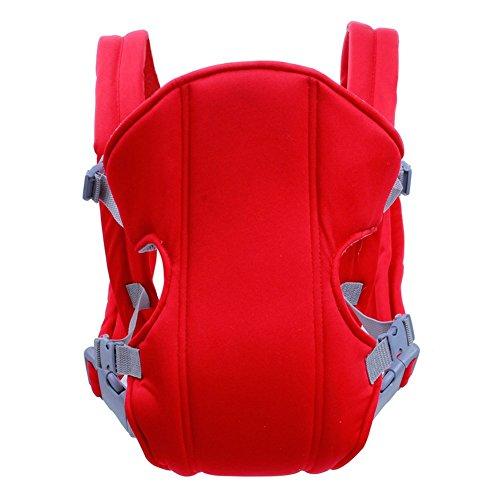 Weich Matte Baby und Kindertrage, Bauch-, Rücken- und Hüfttrage Carrier (rot)