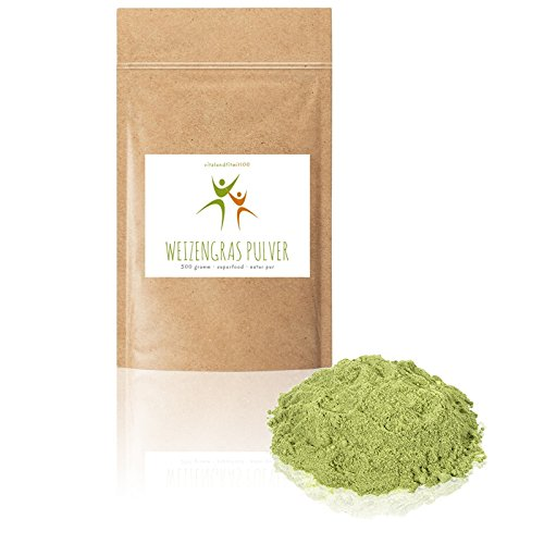 Weizengras Pulver BIO - 300 g - Superfood - 100% NATUR PUR AUS ÖSTERREICH - Rohkostqualität - Glutenfrei - Laktosefrei - OHNE Hilfs- u. Zusatzstoffe