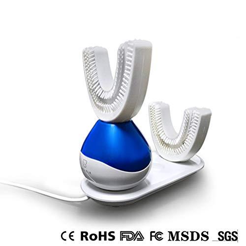 Elektrische Zahnbürste, Automatisch Ultraschall Silikon Zahnbürste Tiefenreinigung Zahnaufhellung IPX7 Wasserdicht Wiederaufladbar