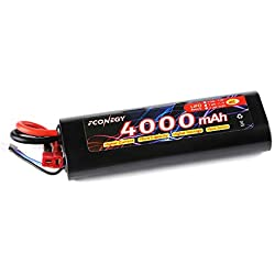 Fconegy 2S 7.4V 4000mAh 40C Lipo Battery Pack with Deans Plug for RC Car RC Truck RC Boat, RC Hobby
