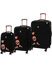 0ac4f8169 IT Luggage Candy Skull Expandable Hardshell Four Dual Wheel Spinner Suitcase