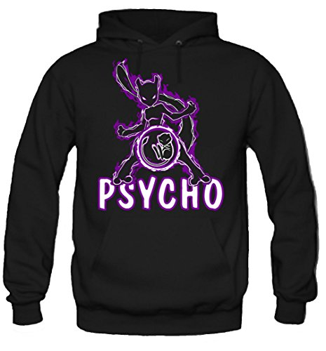 Psycho Kapuzenpullover | Manga | Männer | Herrn | Baumwolle | Go | Comic | Anime | Pokemon | Intuition | Mystic | Valor (L, Schwarz)