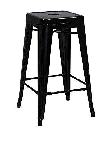 SuperStudio lo+demoda Hight Ural H66 B&W - Taburete, Acero, 80 x 80 x 76 cm, Color Negro
