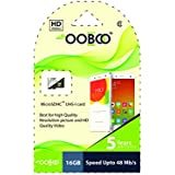OoBoo 16GB Class 10 Micro SDHC Memory Card-Speed UP To 48 MB/S (5 Years Warranty)