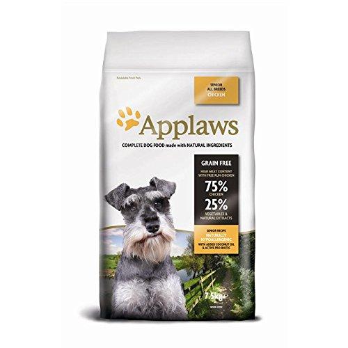 Applaws Hund Trockenfutter Senior Huhn, 1er Pack (1 x 7,5 kg)