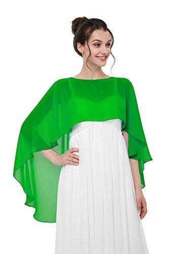 f5eed82c5c1e38 TBdresses Chiffon Braut Hochzeit Capes Wraps Frauen Abendkleid Stola  Brautjungfer Schals Braut Wrape.