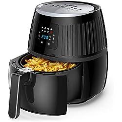 Innsky 3.5L friteuse sans huile, 1500W, friteuse à air chaude avec LCD écran tactile, 7 programmes prédéfinis, avec recette