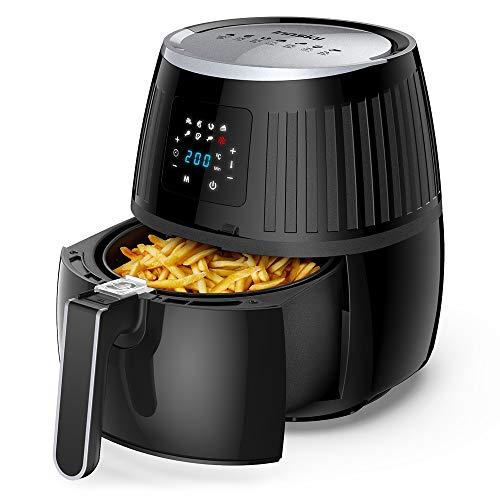 Innsky 3.5L friteuse sans huile, friteuse à air chaude avec LCD écran tactile, 7 programmes prédéfinis, avec recette gratuite