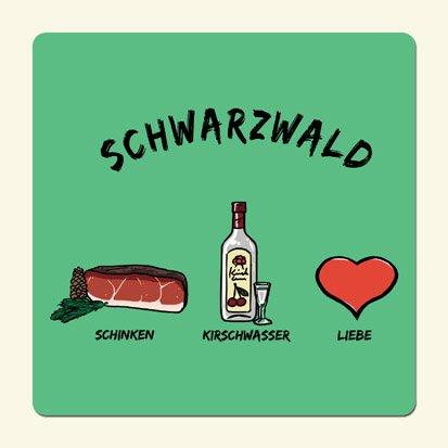 die stadtmeister Untersetzer ''Schwarzwald: Schinken-Kirschwasser-Liebe''