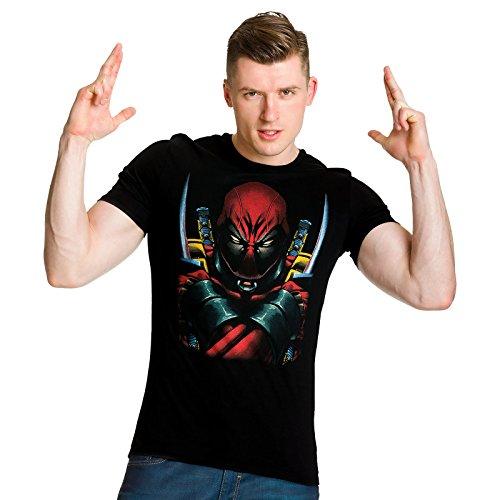 Deadpool Marvel Superhelden T-Shirt zur Comic-Verfilmung lizenziert schwarz Schwarz
