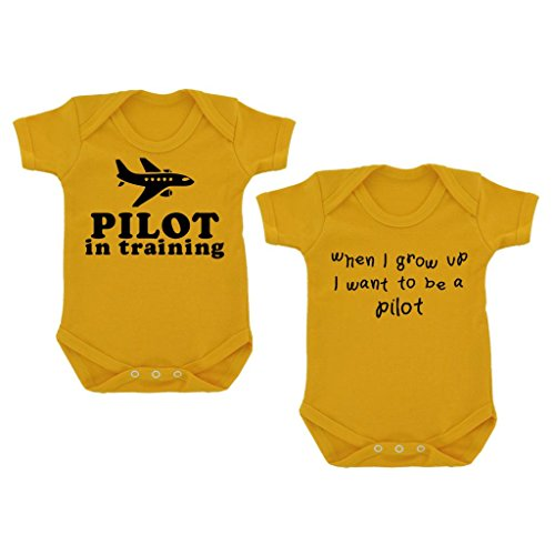 2er-pack-pilot-in-training-when-i-grow-up-baby-bodys-sonnenblume-gelb-mit-schwarz-print-gr-68-gelb-g