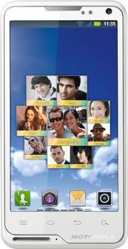 Motorola GmbH Motorola Motoluxe Smartphone (10,2 cm (4 Zoll) FWVGA-Touchscreen, 8 Megapixel Kamera, WiFi, Android 2.3) weiß