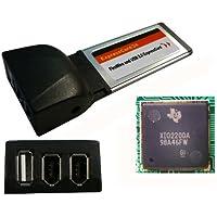 Kalea Informatique–Tarjeta Express (ExpressCard 34mm)–1puerto USB 2.0+ 2puertos FireWire IEEE1394a–Chipset TI Xio 2200A–Texas Instruments