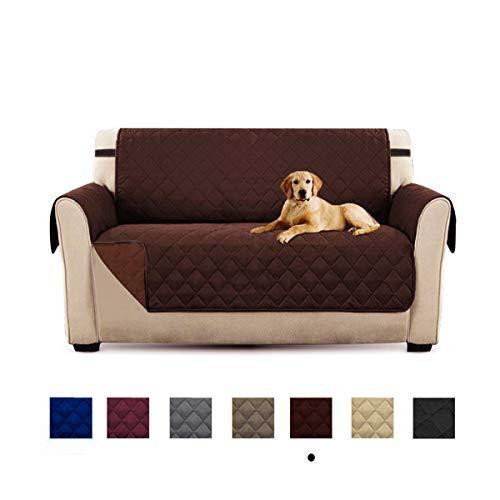 Honcenmax copridivano divano protector mobili coperture - trapuntato impermeabile antiscivolo protector - per cani/gatti letto con divano slipcovers - 2 posti (90''x75'')