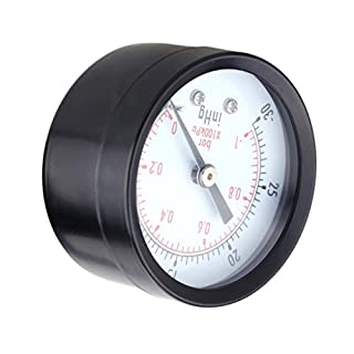 Baoblaze Mini Air Compressor Dial Meter Vakuumdruck Manometer -30inHg / -1bar