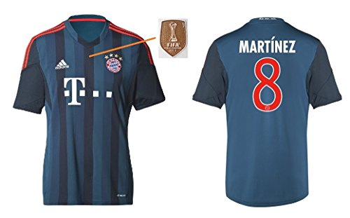 Trikot Herren FC Bayern 2013-2014 Third WC - Martinez 8 (M)