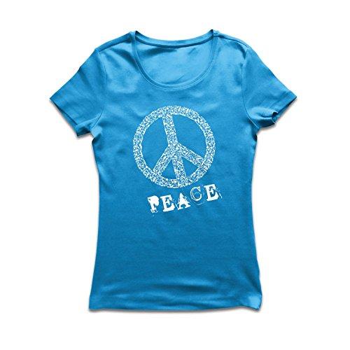 irt FRIEDENSsymbol - 1960er Jahre 1970er Jahre Hippie Hippie, Street-Kleidung, Friedenszeichen, Sommer Festival Hipster Swag (XX-Large Blau Mehrfarben) (1970 Kostüme Zu)