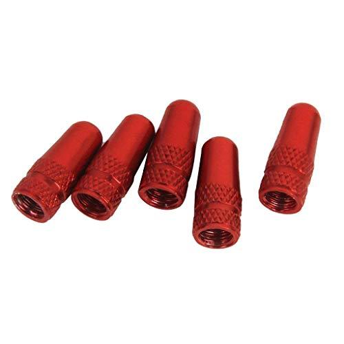 Vektenxi Fahrrad Buddha Stil Felge Reifen Luftkappe Staubschutz Abdeckung Ersatzteil 5 Stücke Rot
