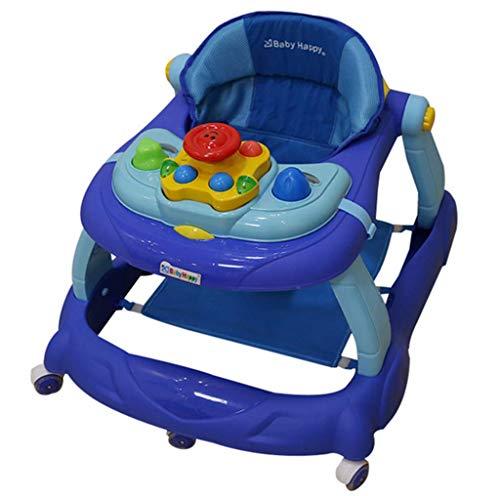 Lauflerngerät für Kleinkinder und Kinder, Anti-Rollover-Multifunktionsgerät, U-Lernwagen, mit Musik-Gehwagen, 6/7-18 Monate Baby, Baby-Lauflernhilfe, Baby Trend Walker,A