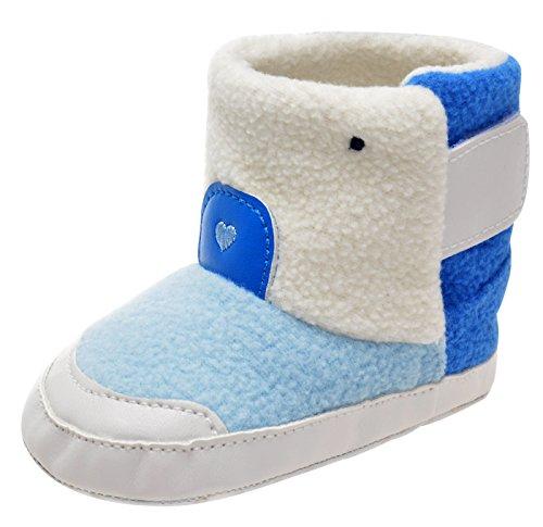 6ee1364552b1b Happy Cherry - Chaussures Premier Pas pour Bébé Fille Garçon Semelle  Antidérapant Bottes Enfant Chaud Hiver