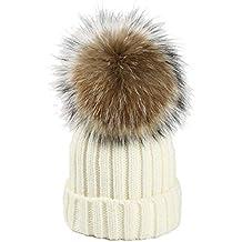 Tuopuda Gorro Mujer Invierno Cálido Sombrero Invierno Boina Hat Tejer  Pompón Beanie Gorro Invierno fe8a2648130