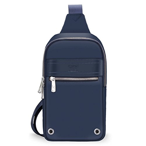 BULAGE Pack Brusttaschen Lässig Männer Oxford Tuch Messenger Schulter Sport Outdoor Geldbörsen Wandern Radfahren Einkaufen Black