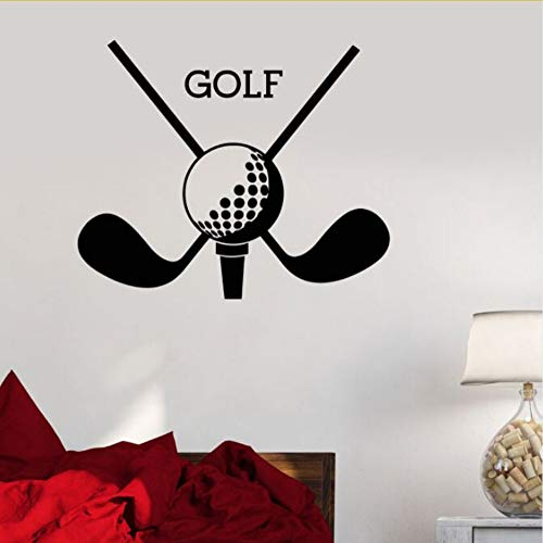 Zfkdsd Vinyl Wandtattoo Golf Club Sport Logo Wandaufkleber Golf Putter Neue Design Wand Kunst Wand Home Wohnzimmer Vinyl Tapete 57 * 47 Cm