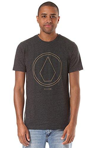 Herren T-Shirt Volcom Pinline Stone Hth T-Shirt Heather Black