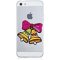 Qissy®TPU Copertura di iPhone 5 5S SE schema creativo Ultra Slim COPERTURA Della Cassa Del Custodia Custodia Stoccaggio e campane di Natale di design