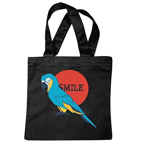 sac à bandoulière Parrot - perroquets - perroquets - divertissement - oiseau - volaille Sac école Turnbeutel en noir