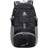 af06fdb7f1 LLDE Uomo Backpack Outdoor Multifunzione Viaggio Zainetto Pieghevole Zaini  Scuola Leggero Impermeabile Zaino Casual Nylon Rucksack